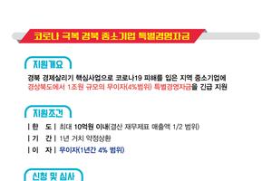 경상북도, '코로나 극복 중소기업 특별경영자금' 1조원 지원!
